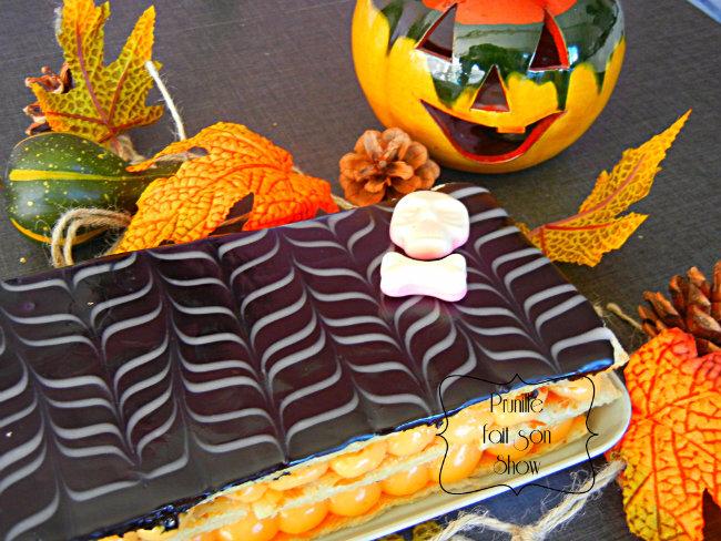 Millefeuille pour Halloween - recette simplifiée