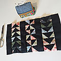 Patchwork : Flying geese ou vol d'oies