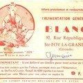 1966, une promo de l'épicerie de M. et Mme Blanc
