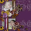 Kit and templatepack the warm smell of autumn. de angélique scrap