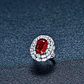 A 10.03 Carat <b>Mozambique</b> 'Pigeon Blood' Ruby and Diamond Ring