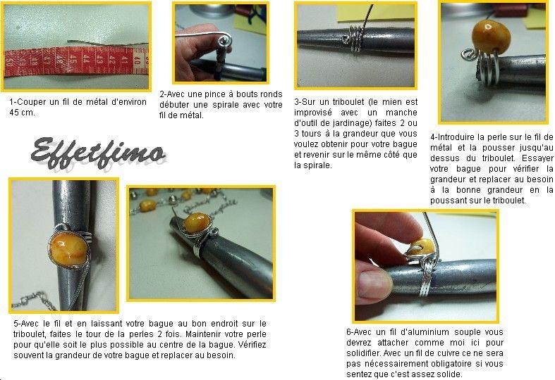 Tuto bague en fil de m tal facile r aliser wire - Tuto bijoux pate fimo et fil aluminium ...