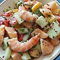 Salade melon-crevettes