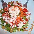 Salade composé au crabe