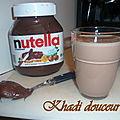 Milk shake nutella