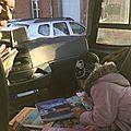 Des bouquins dans un bus scolaire : un chauffeur lance l'idée et ça cartonne!