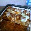 Mes lasagnes , bien entamées
