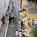 Photographes et cameramen pour l'inauguration de paris plages