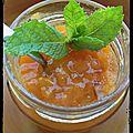 { recette } confiture d'abricots (et nectarines ) à la menthe avec agar-agar
