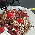 Crumble muesli-pommes-fruits rouges