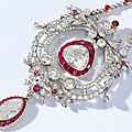 A fine belle époque ruby and diamond pendant, circa 1910