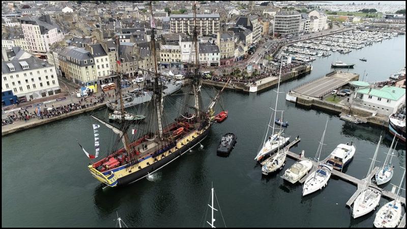 L'HERMIONE: la frégate de la Liberté visite les ports normands