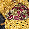 Pochette jaune crochet 5