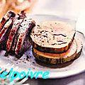 Foie gras, cafe creme de whisky .