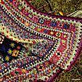 Nopes et jacquard au crochet