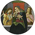 Botticelli <b>and</b> Studio, The <b>Madonna</b> <b>and</b> <b>Child</b> Enthroned with Saint John the Baptist <b>and</b> an Angel