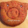 Petits biscuits sans oeufs aux pralines roses