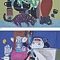 Đặng Xuân Hòa (B. 1959), (I) <b>Man</b>'<b>s</b> <b>things</b> <b>with</b> cat (II) <b>Man</b>'<b>s</b> <b>things</b> <b>with</b> <b>fish</b>