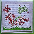 Trois cartes d'anniversaire <b>Happy</b> <b>Birthday</b>