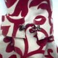 Sac arabesques rouges - fermeture