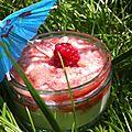 Dessert frais au melon et aux framboises - à partir de 12 mois