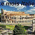 Le mois italien chez martine...