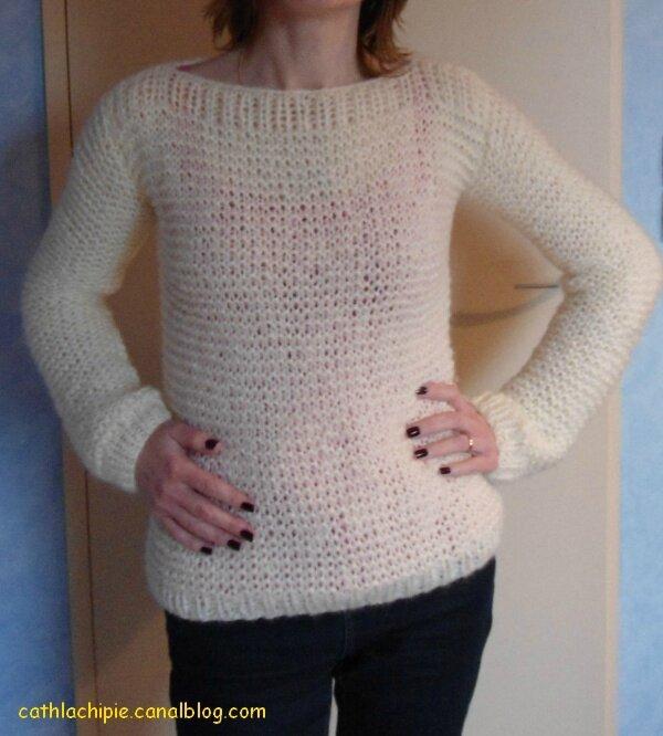 tuto pull oversize tricot