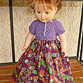 Robe tricot couture pour poupée