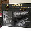 Plan de table thème Voyages - Tableau d'affichage <b>aéroport</b>