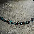 Collier turquoise howlite et perles d'eau douce