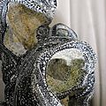 Hervé THAREL - SCHMIMBLOCK'S schatz 2014 - acrylique sur argile 24x19cm détail6
