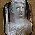 Roman Cameo, <b>1st</b>-<b>3rd</b> <b>century</b> <b>AD</b>. Caesar Claudius (41-54 CE) with scepter