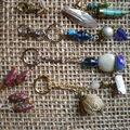 Bijoux de sac, porte'clés et BO en FIMO et perles
