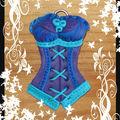 Bustier bleu