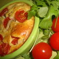 ¤¤¤ the dark side of the lost flan: clafoutis de tomates cerise, basilic et chèvre frais