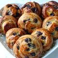 Petits pains au raisins et au pépites de chocolat faciles à faire