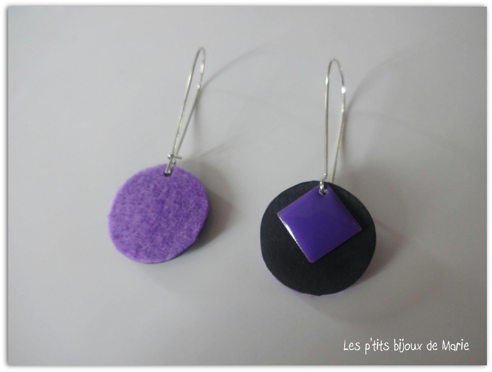 BO violettes et chambre à air