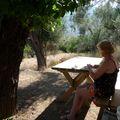 Sur la terrasse du jardin de Sermet à SELIMIYE