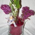 composition florale parfumée et colorée ....
