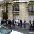 La queue des Présidents a l'entrée du CNO