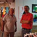 Deux artistes André et M. Feugere