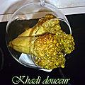 Cornets aux pistaches