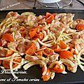 Dinde marinée oignons et tomates cerises