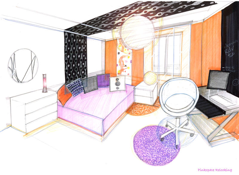 Awesome Chambre En Perspective Gallery - Sledbralorne.com ...