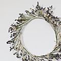Couronne de <b>fleurs</b> <b>séchées</b> Luberon