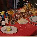 Table de noël or