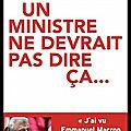 Un ministre ne devrait pas dire ça - christian eckert - editions robert laffont
