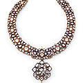 A diamond-set and enamelled necklace (<b>khanti</b>), North India, circa 1800