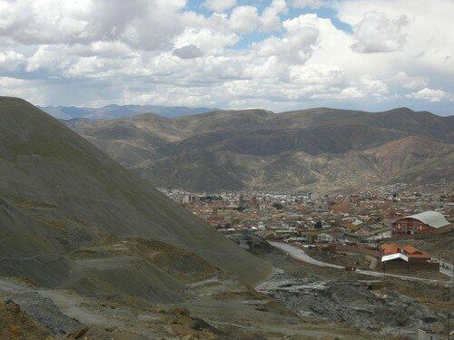 La ville de Potosi depuis la mine