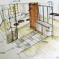 Relooking d'un salon - la varenne jarcy (91)